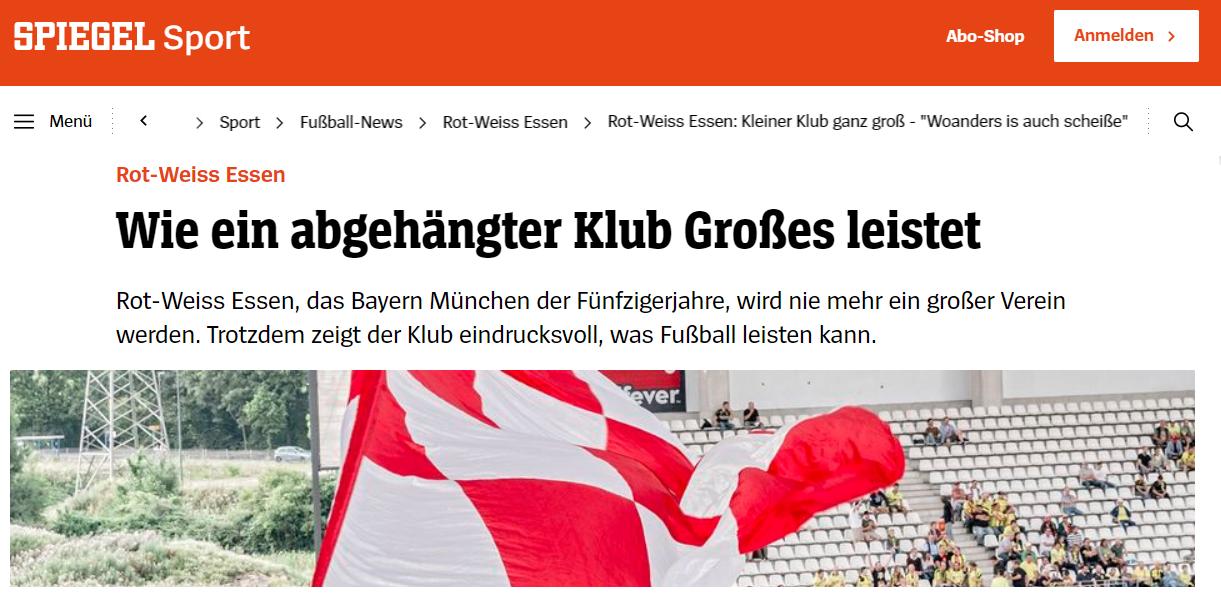 """Rot-Weiss Essen: Kleiner Klub ganz groß - """"Woanders is auch scheiße"""" - DER SPIEGEL - Sport"""